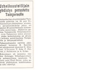 TamUA:n synty 29.11.1956